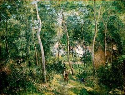 Edge of the Woods by Camille Pissarro